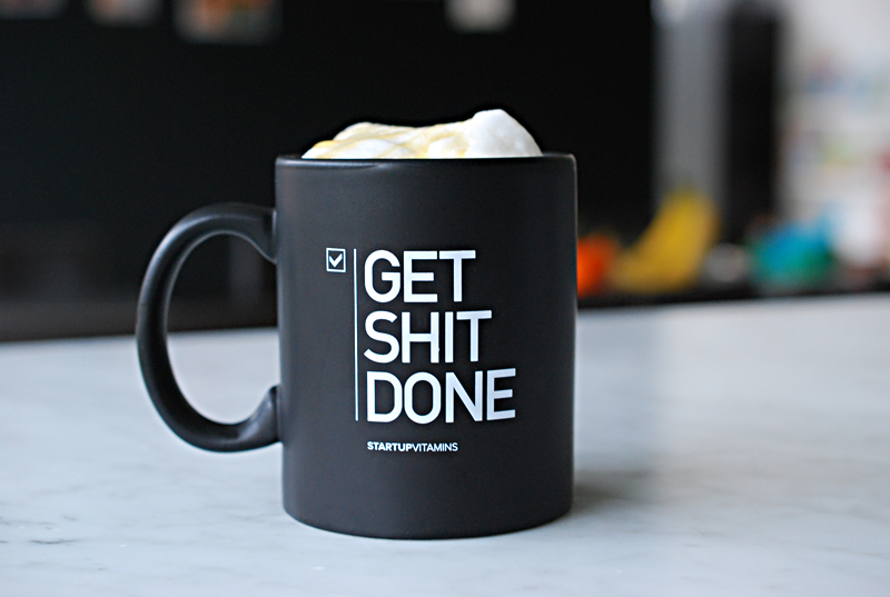 Get shit done coffe mug black