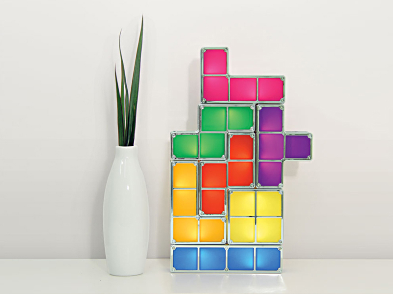Tetris LED Bordlampe