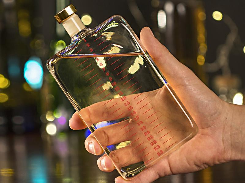 Adventsflaske adventskalender for alkoholholdig drikke for voksne