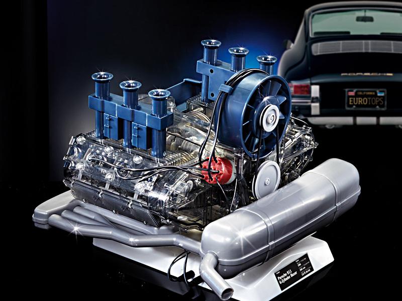 Porsche bygg din egen 6-sylindrede Boxermotor byggesett 1 til 4 scale