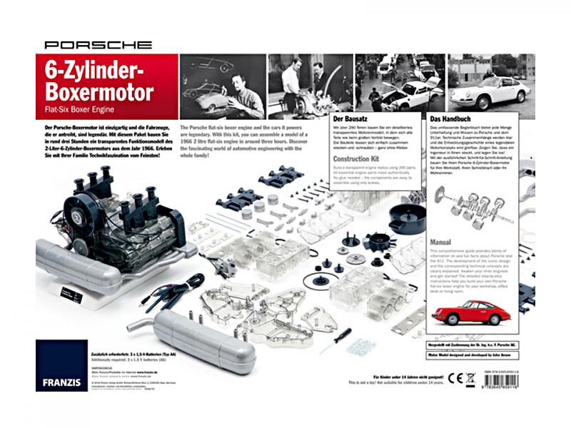 Porsche bygg din egen 6-sylindrede Boxermotor byggesett