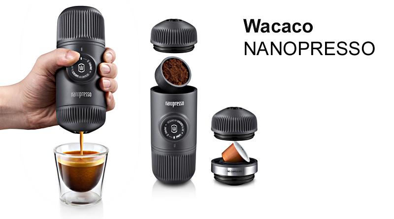 Wacaco Nanopresso Bærbar Espressomaskin lager espresso hvor som helst
