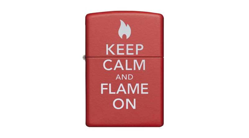 Zippo lighter – Keep Calm and Flame On