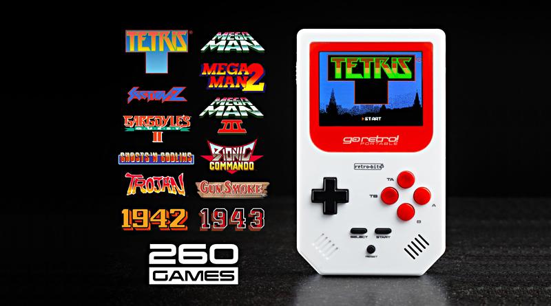 Go Retro Portable spillkonsoll med Tetris og 260 spill fra 80- og 90-tallet